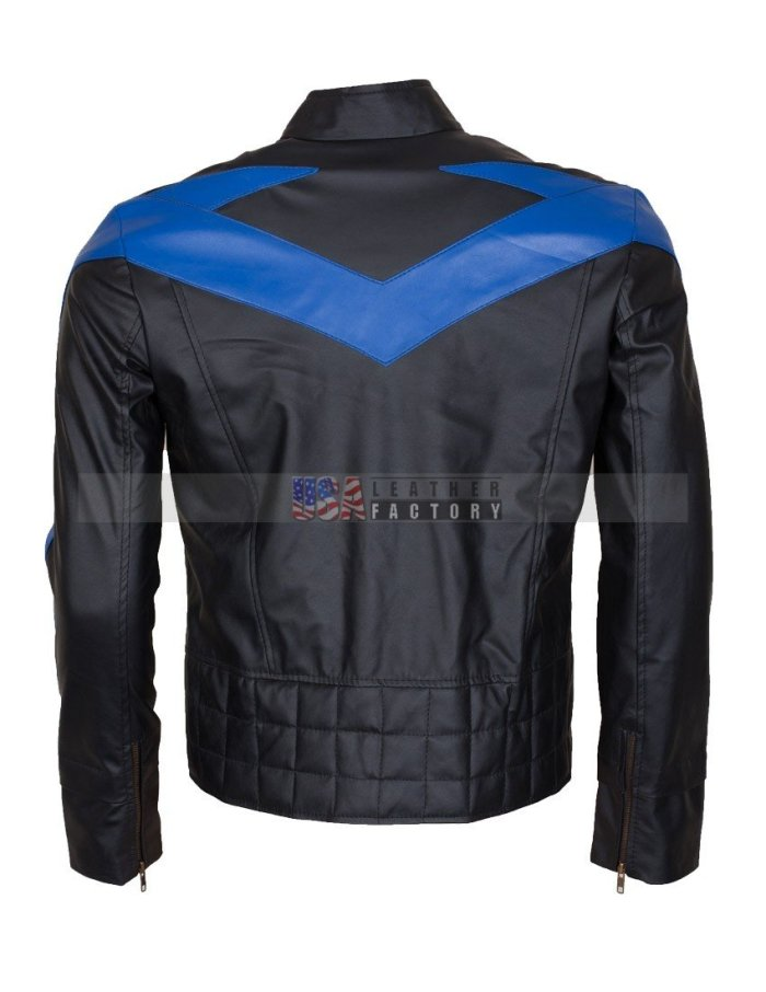 Dick Grayson Nightwing Leather Jacket Online Sale Buy Now in USA