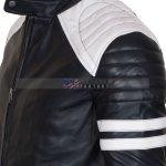 Fight Club Hybrid Black Leather Biker Jacket Buy Now