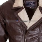 Men Choco Brown B3 Bomber Fur Lined Leather Jacket Buy NOW