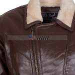 Men Choco Brown B3 Bomber Fur Lined Leather Jacket online sale