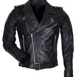 Men's Black Genuine Leather Motorcycle Jacket
