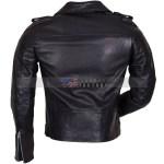Mens Black Genuine Leather Motorcycle Jacket Free Shipping USA