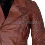 Mens Classic Diamond Brown Jacket