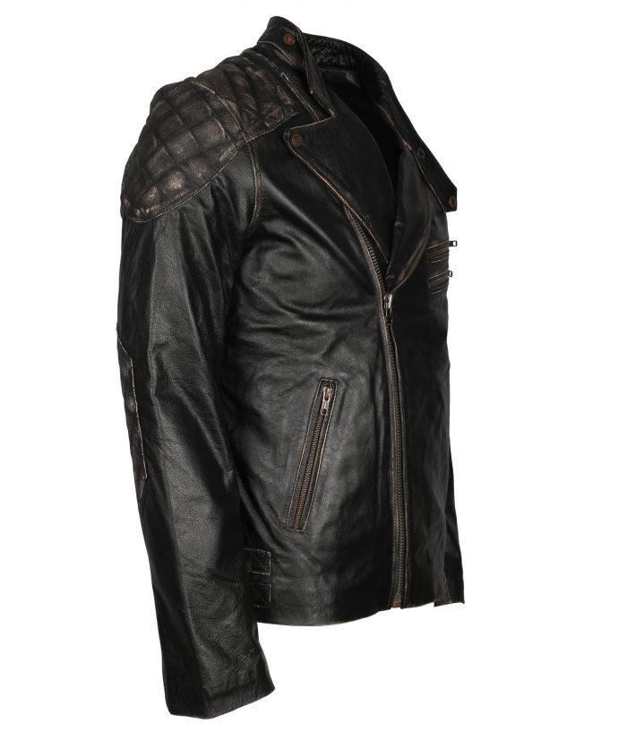 Biker Skull Vintage Leather Jacket For Men