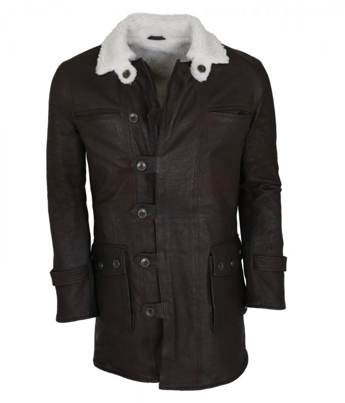 Bane Brown Leather Coat