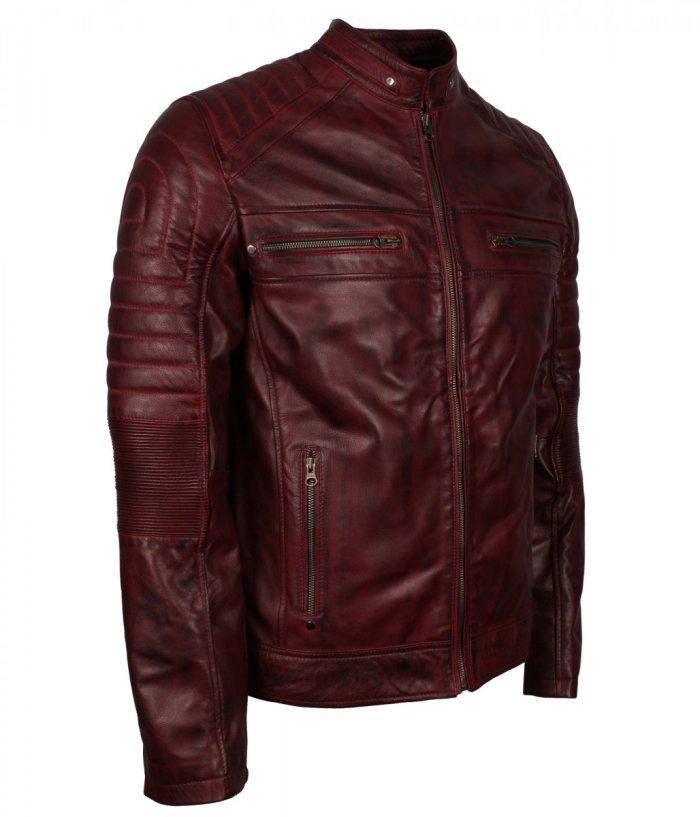 Maroon Biker Leather jacket