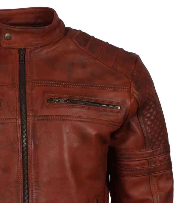 Biker brown Leather Jacket