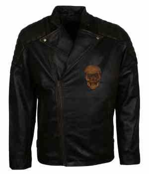 Black Motorcycle Leather Jacket