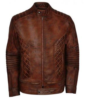 Brown Distressed Iconic Vintage Leather Jacket