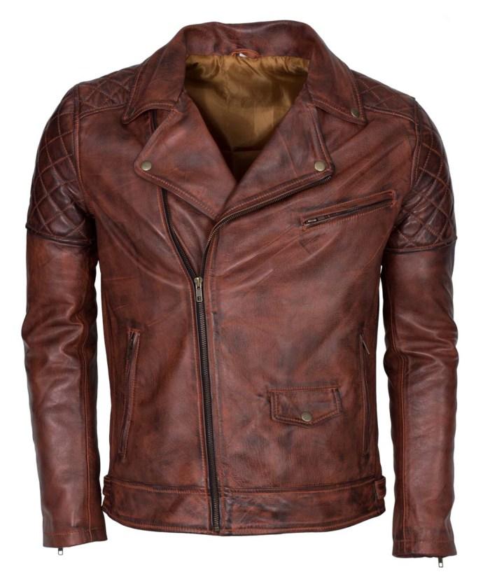 Brando Vintage Motorcycle Leather Jacket