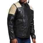 Black Brando Fashion Men Leather Jacket