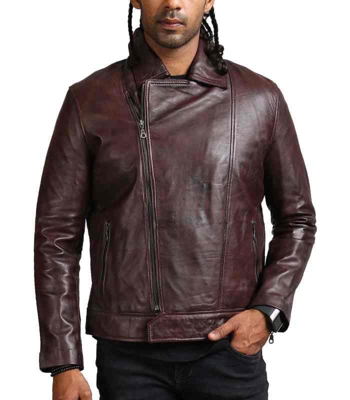 Vincent Men Fashion Brown Leather Jacket Sale