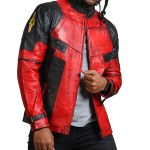 DP Men Red Blood Waxed Leather Jacket USA Leather Factory