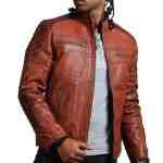 Scarecrow Men Brown Vintage Leather Jacket Sale USA Leather Factoy