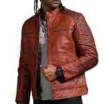 Scarecrow Men Brown Vintage Leather Jacket Sale