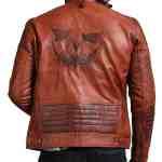 Scarecrow Men Brown Vintage Leather Jacket