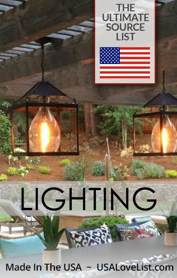 american made lighting the ultimate source list usa love list