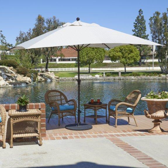 california umbrella tahoe series 11 x 8 rectangle patio table umbrella