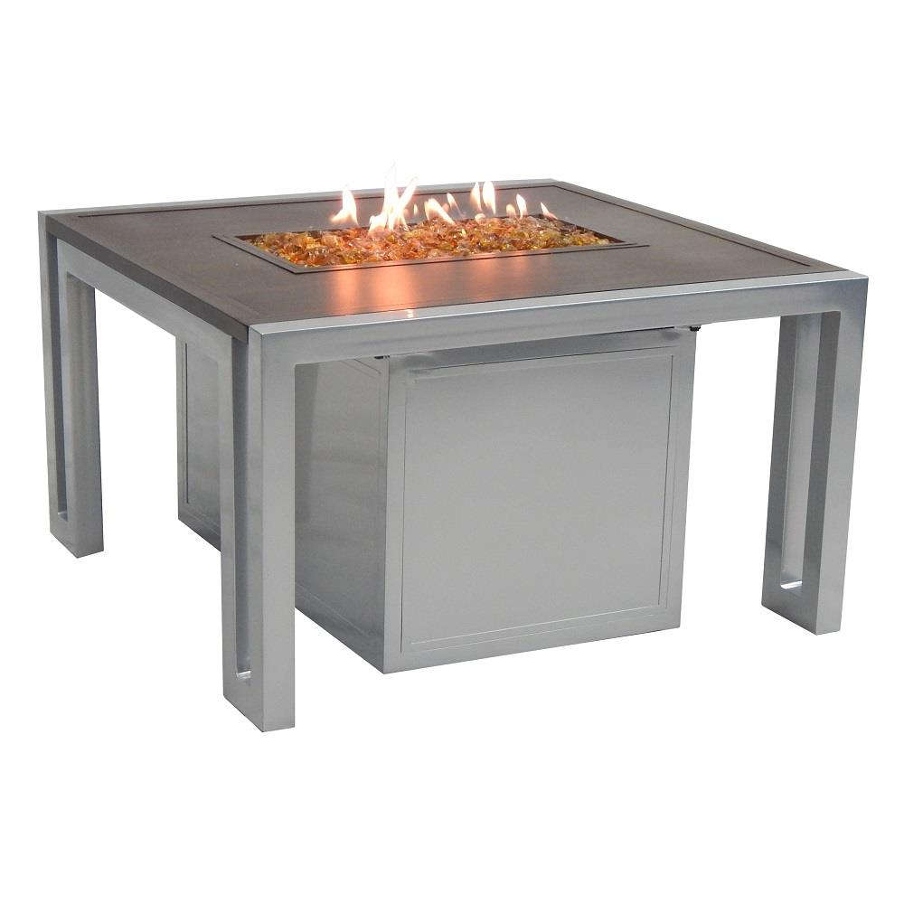 castelle icon 32 square coffee table with firepit