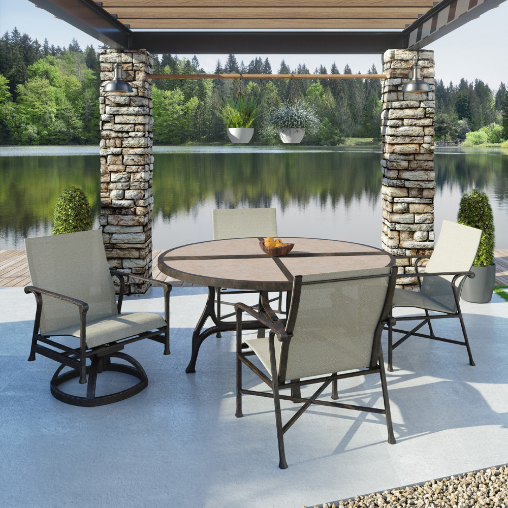 castelle marquis round patio dining set for 4