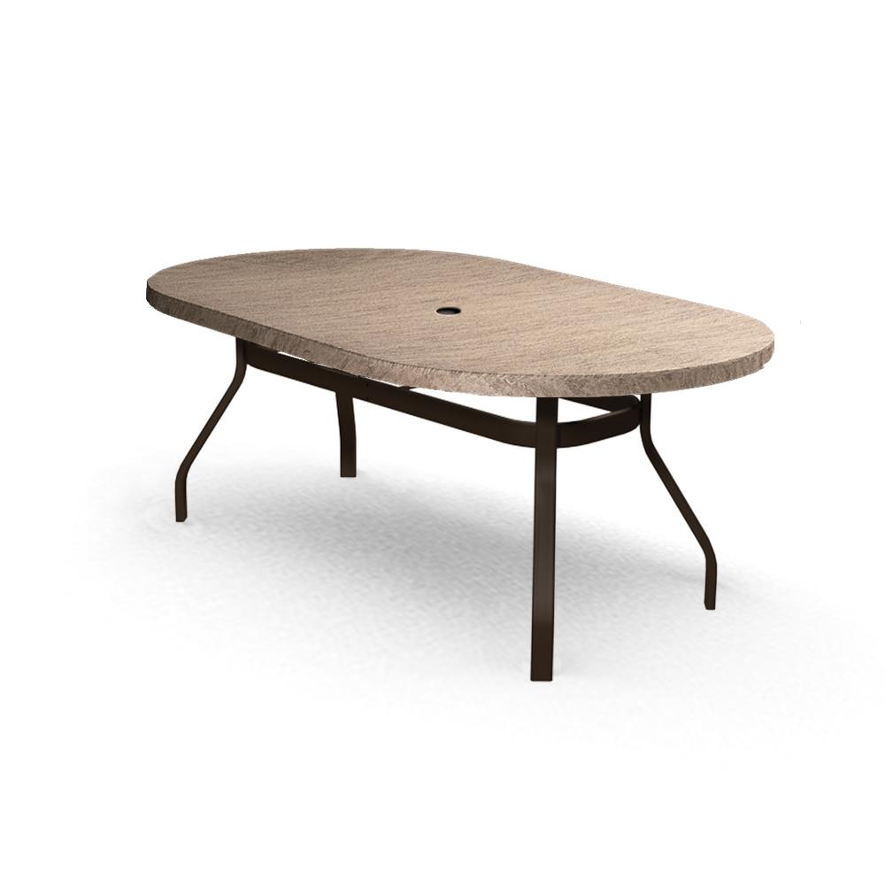 homecrest slate 42 x 72 oval dining table