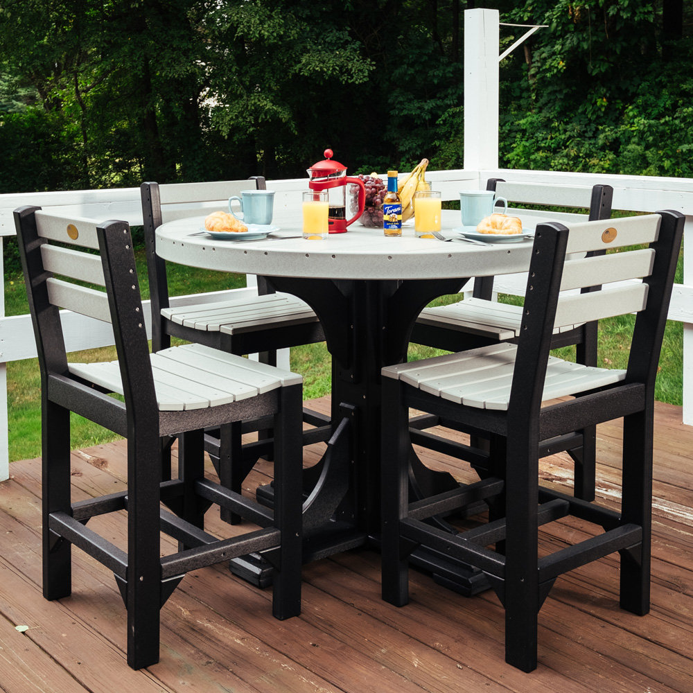 luxcraft classic counter height patio set for 4