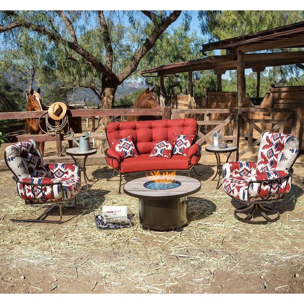 ow lee pendleton mini monterra fire pit table set