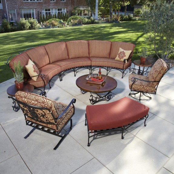 curved outdoor sectional patio furniture OW Lee San Cristobal 9 Piece Curved Sectional Set | OW