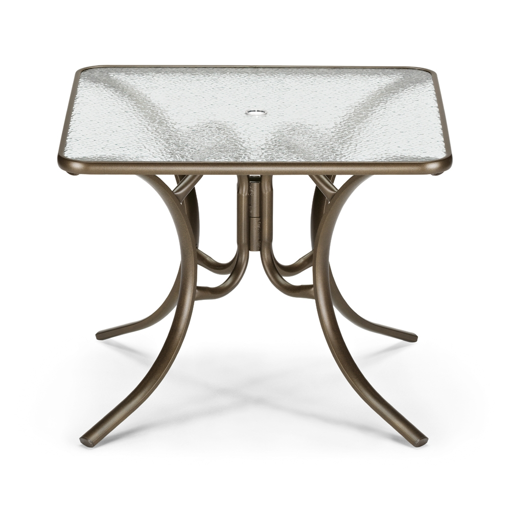 telescope casual 36 square glass top dining table