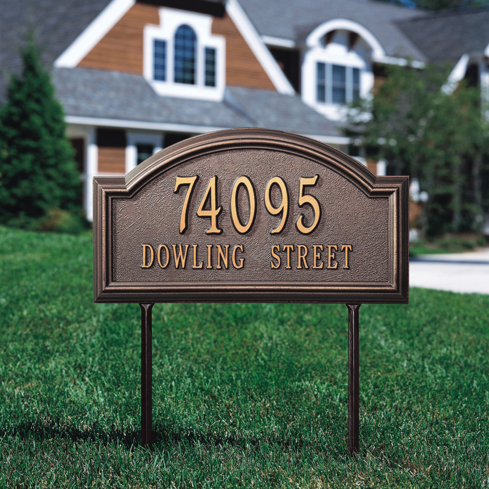 Number Lowes Plaques Vertical House