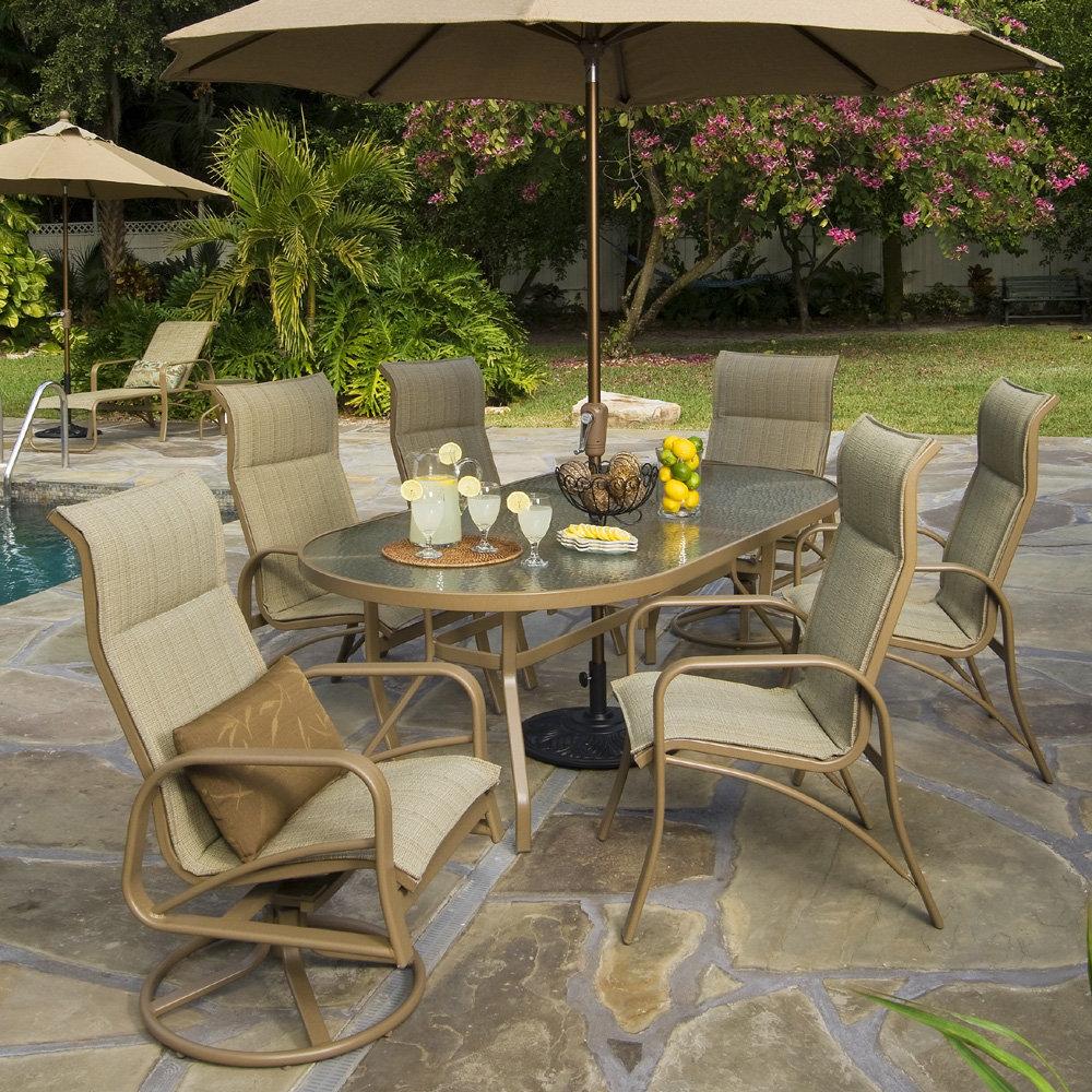 windward montego bay sling patio dining