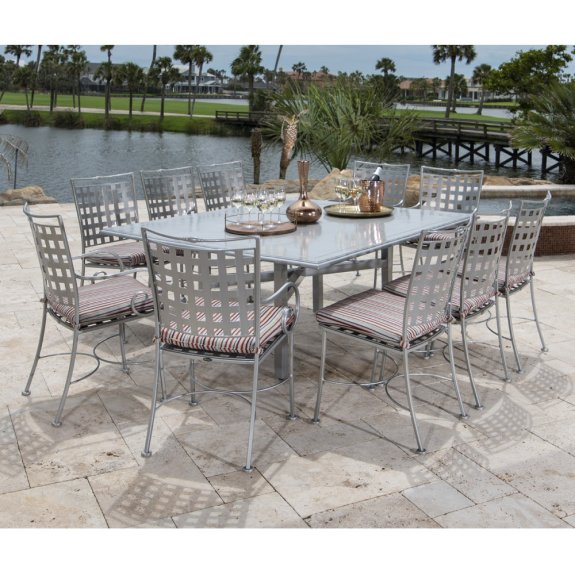 woodard sheffield wrought iron patio dining set for 10