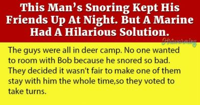 Man's Snoring Kept His Friends Up At Night But A Marine Had A Solution