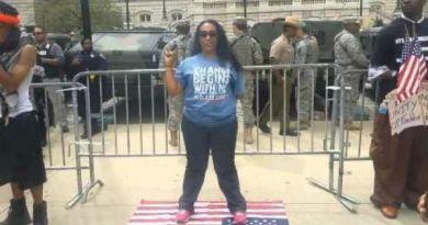 Watch: Liberal Welfare Woman Steps On American Flag