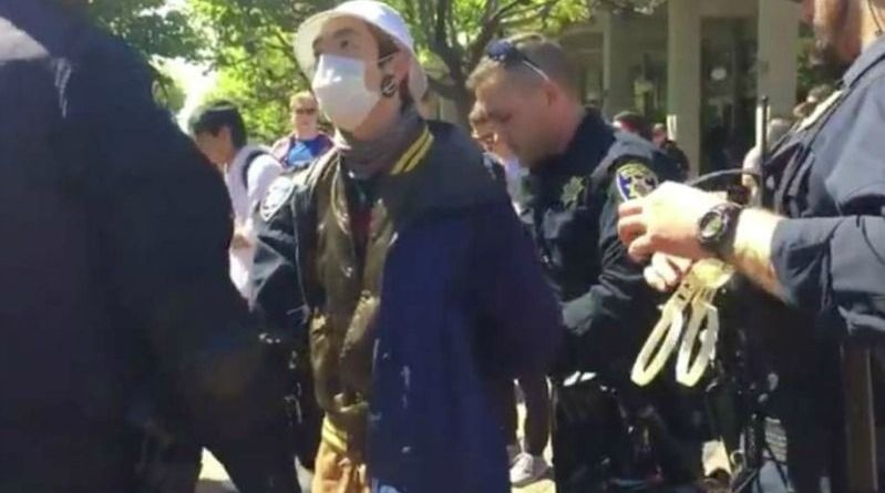 Liberal Berkeley's Protester Gets Arrested For Not Removing His Mask