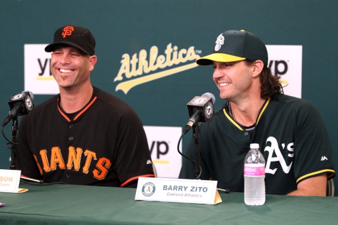 Tim Hudson and Barry Zito press conference