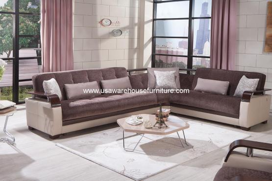 Demka Dogal Convertible Sectional Sleeper