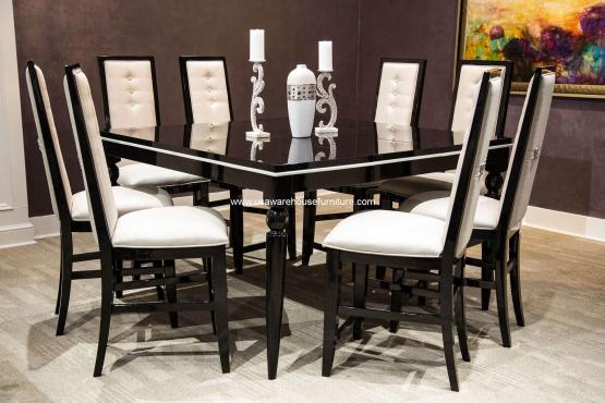 Sky Tower Black Ice Gathering Dining Set