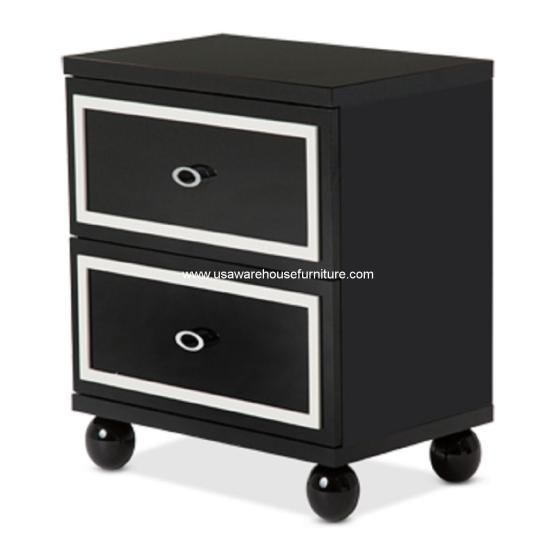 Sky Tower Black Ice Nightstand
