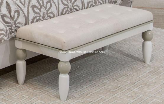 Sky Tower Cloud White Bedside Bench