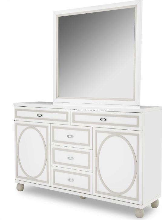 Sky Tower Cloud White Dresser