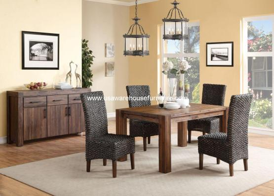 5 Piece Meadow Rustic Dining Set