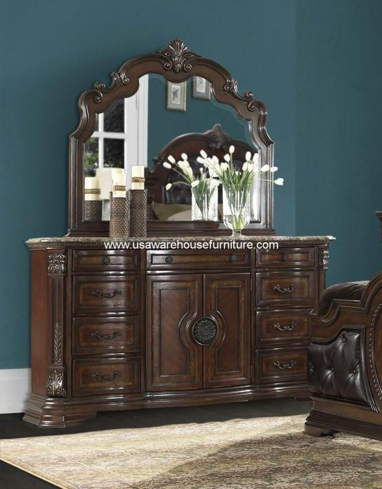 Antoinetta Drawer Dresser With Marble Top