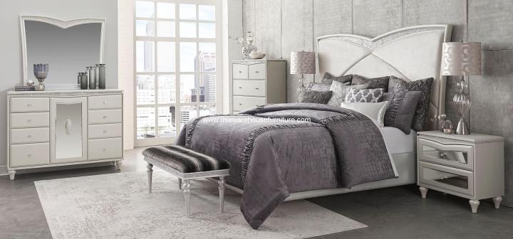 4 Piece Melrose Plaza Upholstered Bedroom Set