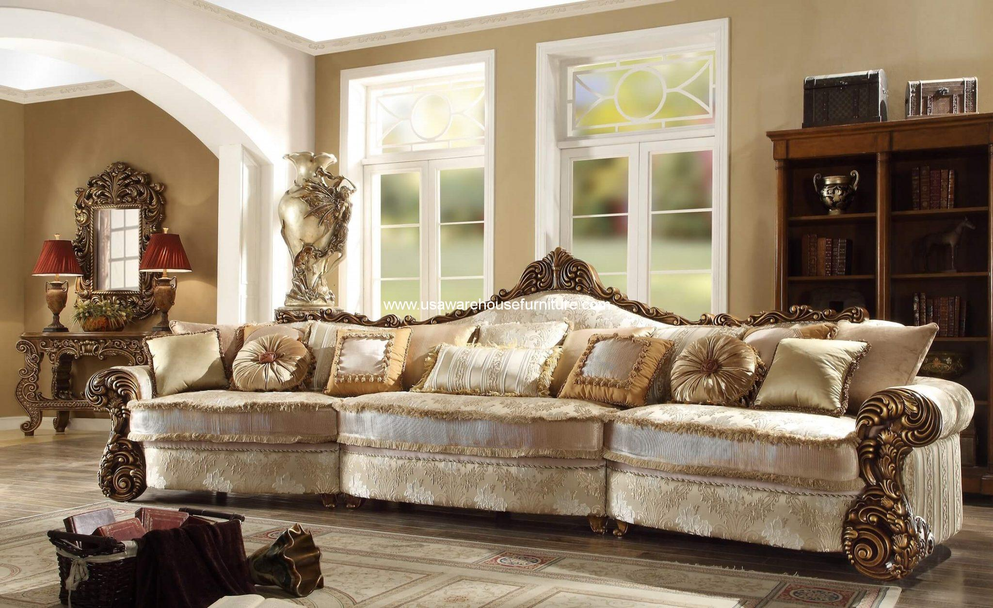 HD-1608 Old World Mansion Sofa Antique Bronze Finish