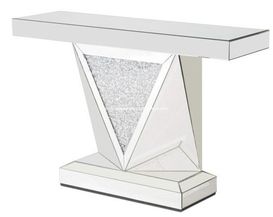 Montreal Mirror With Crystal Console Table