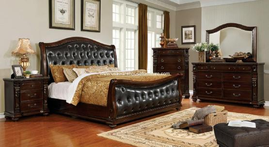 4 Piece Fort Worth Sleigh Bedroom Set
