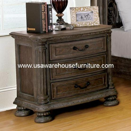 Ariadne 3 Drawer Nightstand