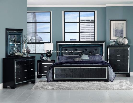 Allura LED Panel Bedroom Set