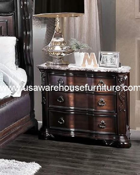 Arcturus 3 Drawer Nightstand With Marble Top